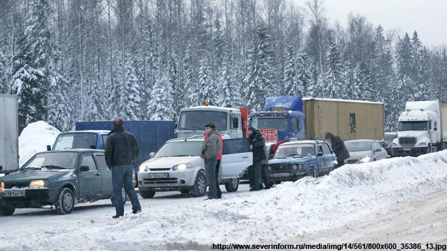 Дорогу М-7 награнице сМосковской областью сократят до 2-х полос