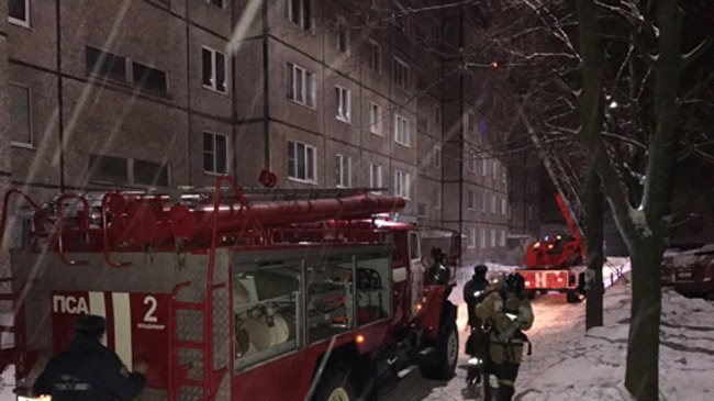 В итоге ночного пожара воВладимире умер человек
