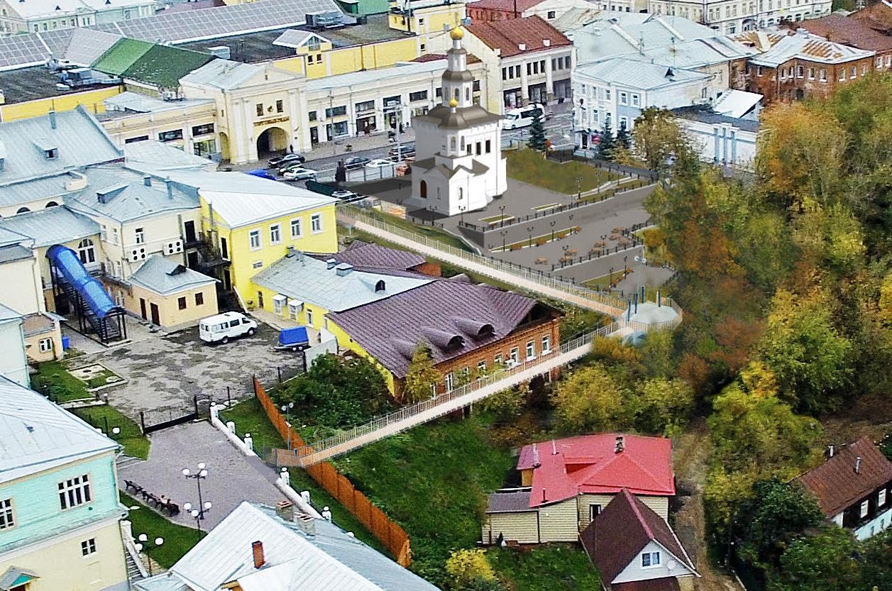 Вцентре Владимира появится подвесной мост